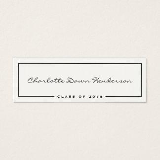 Black frame ecru graduation announcement name card