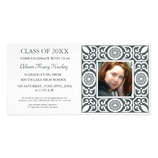 Black frame - Photo Graduation Party invites
