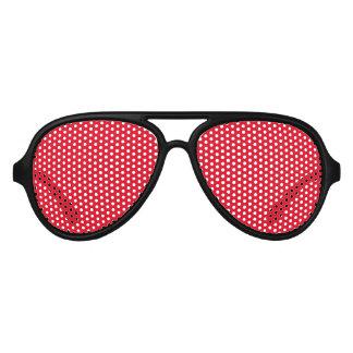 Black Frame Pinhole Party Glasses with Red Lens Aviator Sunglasses