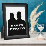 "Black Frame Your Photo 8 x 10 Vertical Plaque<br><div class=""desc"">A black 3D look design frame template frame for your photo on a 8&quot; x 10&quot; Photo Plaque.</div>"