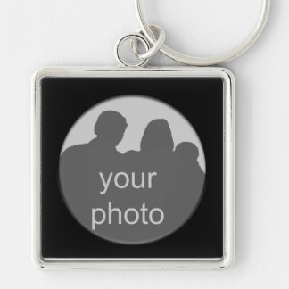 Black Frame Your Photo Premium Keychain