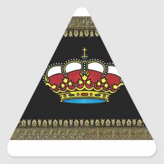 black framed crown of glory triangle sticker