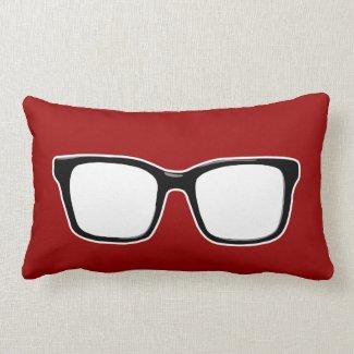 Black framed glasses pillow