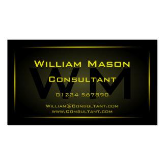 Black Framed Monogram Professional - Business Card
