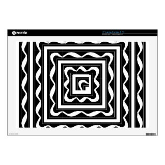 Black Framed Ribbons Laptop Skin