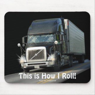 Black Freight Truck for Lorry-drivers & Kids Mouse Pad