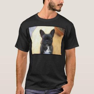 Black French Bulldog art t-shirt