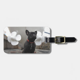 Black French Bulldog Bag Tag