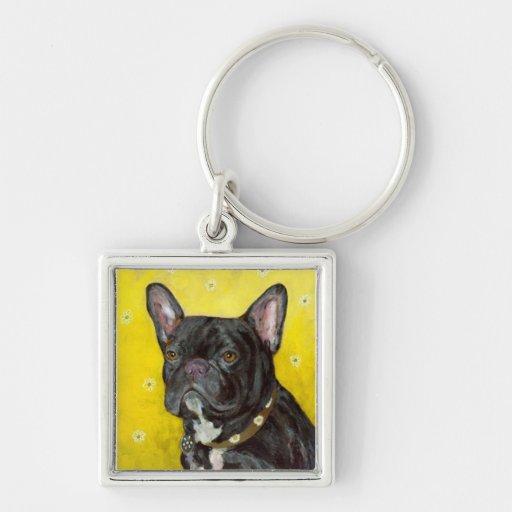 Black French Bulldog Keychain