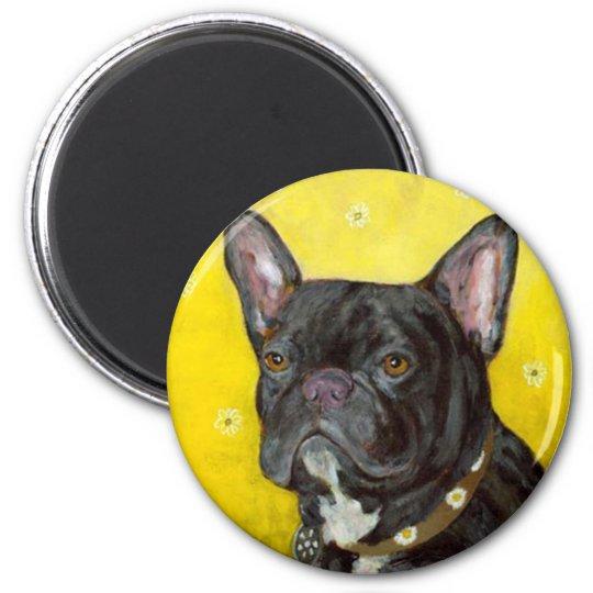 Black French Bulldog Magnet