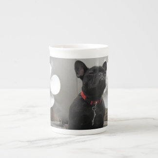 Black French Bulldog Porcelain Mugs