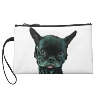 Black French Bulldog Wristlet Wallet