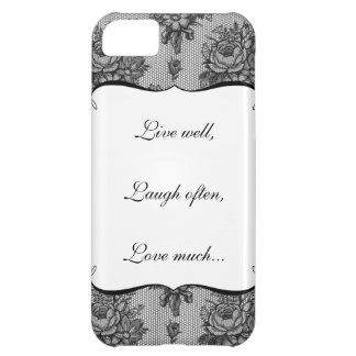black french lace iphone 5 case