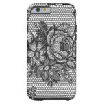 black french lace rose iPhone 6 case