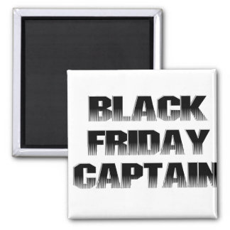 Black Friday Captain 2 Inch Square Magnet