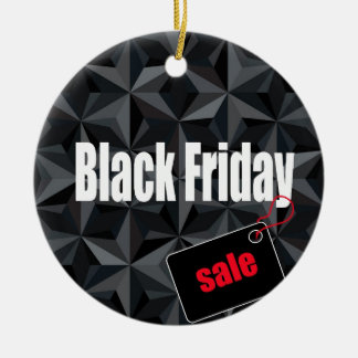 Black Friday Ceramic Ornament