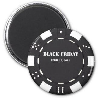 Black Friday Chip 2 Inch Round Magnet
