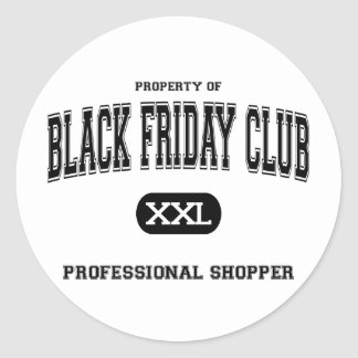 Black Friday Club Professional Shopper Classic Round Sticker