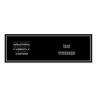 BLACK FRIDAY NOOB BUSINESS CARD TEMPLATE