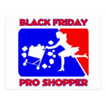 Black Friday Pro Shopper Postcard