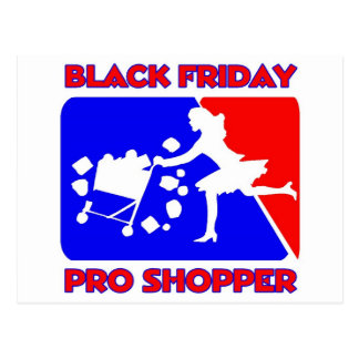 Black Friday Pro Shopper Postcard