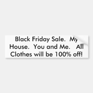 Black Friday Sale Bumper Sticker