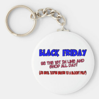 Black Friday Shop Till You Drop Keychain