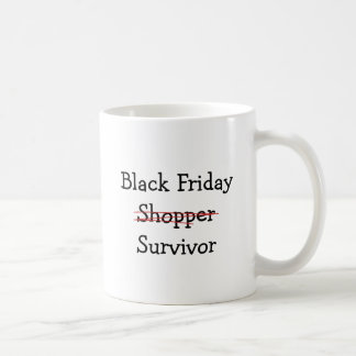 Black Friday Shopper Survivor gear and t-shirts. Mugs
