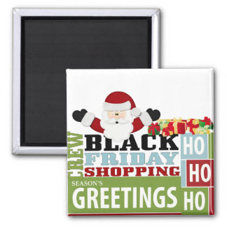 Black Friday Shopping Crew 2 Inch Square Magnet