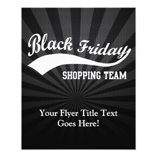 Black Friday Shopping Team Personalized Flyer