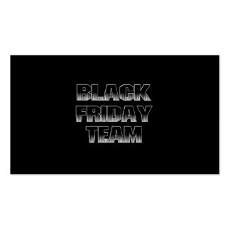 BLACK FRIDAY TEAM BUSINESS CARDS