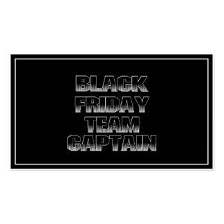 BLACK FRIDAY TEAM CAPTAIN BUSINESS CARDS