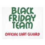 Black Friday Team: Official Cart Guard Custom Invitations