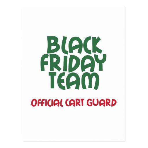 Black Friday Team: Official Cart Guard Post Card