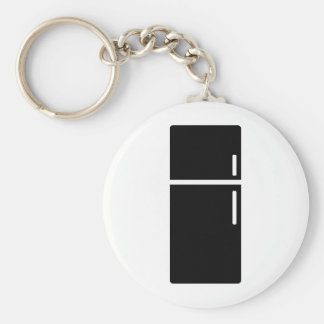 black fridge refrigerator icon keychain