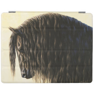 Black Friesian Draft Horse iPad Smart Cover