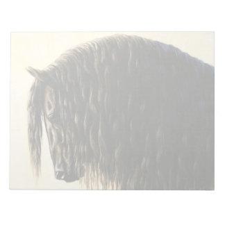 Black Friesian Draft Horse Notepad