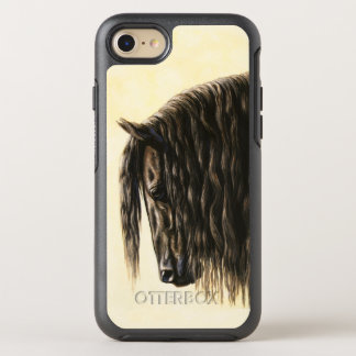 Black Friesian Draft Horse OtterBox Symmetry iPhone 7 Case