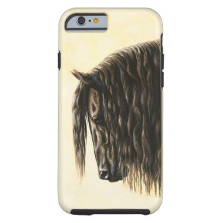 Black Friesian Draft Horse Tough iPhone 6 Case