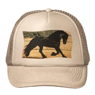 Black Friesian Horse - Hat