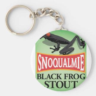 Black Frog Stout Basic Round Button Keychain