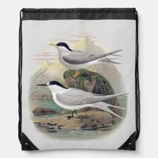 Black-Fronted Tern Drawstring Backpack