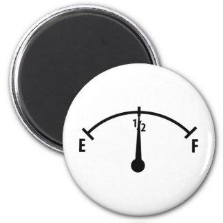 black fuel indicator icon magnet