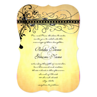 Black Funky Elegant Swirls-see photo bottom page Card