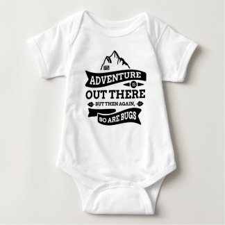 Black Funny Adventure Out There Bugs Travel Wander Baby Bodysuit