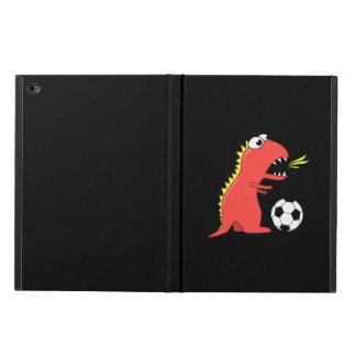 Black Funny Cartoon Dinosaur Soccer Powis iPad Air 2 Case
