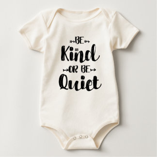 Black Funny Teacher Saying Be Kind Be Quiet Quotes Baby Bodysuit