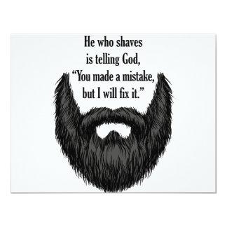 Black fuzzy beard card