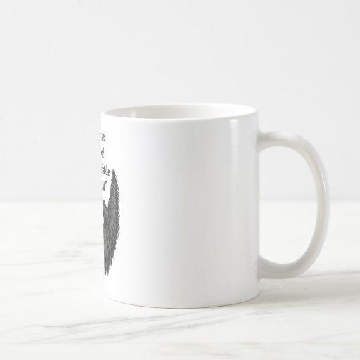 Black fuzzy beard mugs