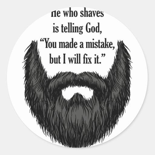 Black fuzzy beard sticker